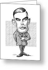 Alan Turing, British Mathematician Greeting Card by Gary Brown