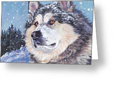 Alaskan Malamute Greeting Card by Lee Ann Shepard