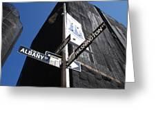 Albany And Washington Greeting Card by Rob Hans