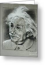 Albert Einstein Greeting Card by Anastasis  Anastasi