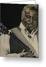 Albert King Greeting Card by Roberta Voss