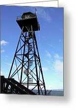 Alcatraz Guard Tower - San Francisco Greeting Card by Daniel Hagerman