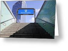Alexandeplatz Sign Greeting Card by Evgeny Ivanov