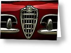 Alfa Red Greeting Card by Douglas Pittman
