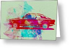 Alfa Romeo  Watercolor 2 Greeting Card by Naxart Studio