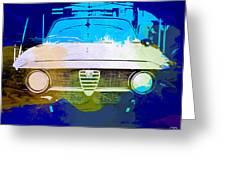 Alfa Romeo Watercolor Greeting Card by Naxart Studio