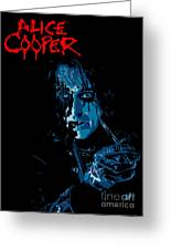 Alice Cooper Greeting Card by Caio Caldas