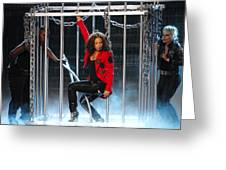Alicia Keys Uncaged Greeting Card by Steven Sachs