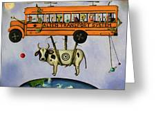 Alien Transport System Greeting Card by Leah Saulnier The Painting Maniac