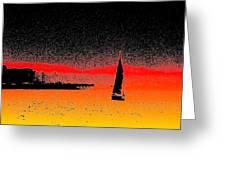 Alki Sail  Greeting Card by Tim Allen