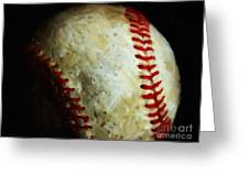 All American Pastime - Baseball - Painterly Greeting Card by Wingsdomain Art and Photography