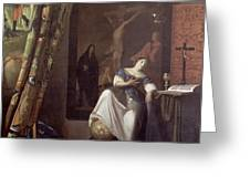 Allegory of the Faith Greeting Card by Jan Vermeer
