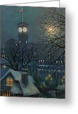 Allen Bradley Clock Milwaukee Greeting Card by Tom Shropshire