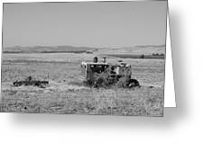 Allis-chalmers Tractor Greeting Card by Troy Montemayor