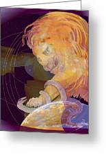 Alpha And Omega Greeting Card by Nancy Watson
