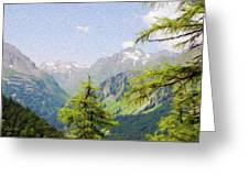 Alpine Altitude Greeting Card by Jeff Kolker