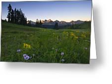 Alpine Dawn Greeting Card by Mike  Dawson