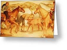 Alta California Rancheros Greeting Card by Pg Reproductions