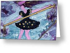 Althea Balances her Life After Chemo Greeting Card by Annette McElhiney