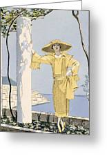 Amalfi Greeting Card by Georges Barbier