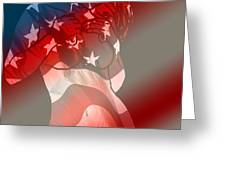 America Greeting Card by Tbone Oliver