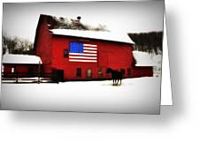 American Barn Greeting Card by Bill Cannon