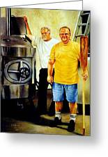 American Brewer Gothic Greeting Card by Gregg Hinlicky