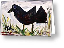 American Crow Greeting Card by Mary Carol Williams