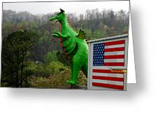 American Dragon  Greeting Card by Michelle  BarlondSmith