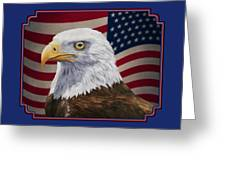 American Eagle Phone Case Greeting Card by Crista Forest
