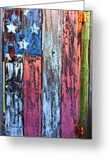 American Flag Gate Greeting Card by Garry Gay