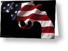 American Gun Greeting Card by Gerard Yates