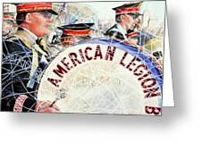 American Legion Greeting Card by Carolyn Coffey Wallace