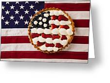 American Pie On American Flagamerican Pie On American Flagamer Greeting Card by Garry Gay
