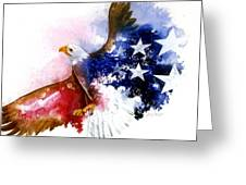 American Spirit Greeting Card by Sherry Shipley