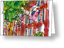 American Street Philadelphia Greeting Card by Marilyn MacGregor