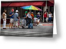 Americana - Mountainside Nj - Buying Ices  Greeting Card by Mike Savad