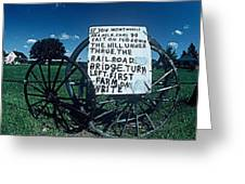 Amish Sign Greeting Card by The Signs Of The Times Collection