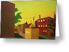 Amory Street Jamaica Plain Greeting Card by Debra Robinson