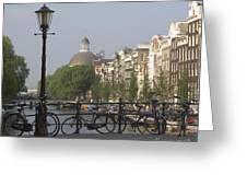 Amsterdam Bridge Greeting Card by Andy Smy
