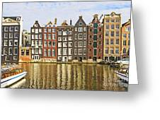 Amsterdam Canal Greeting Card by Giancarlo Liguori