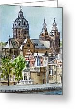 Amsterdam Holland Greeting Card by Irina Sztukowski