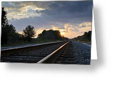Amtrak Railroad System Greeting Card by Carolyn Marshall