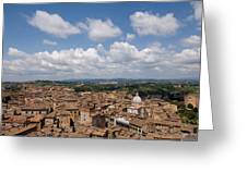An Aerial Of Sienna, Tuscany Greeting Card by Joel Sartore
