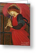 An Angel Playing A Flageolet Greeting Card by Sir Edward Burne-Jones