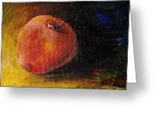 An Apple - A Solitude Greeting Card by Jun Jamosmos