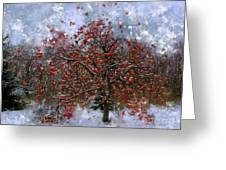 An Apple Of A Day Greeting Card by Julie Lueders