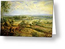 An Autumn Landscape With A View Of Het Steen In The Early Morning Greeting Card by Rubens