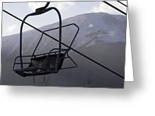 An Empty Chair Lift At A Ski Resort Greeting Card by Tim Laman