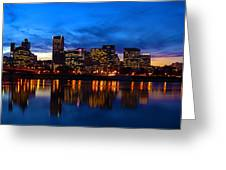 An Evening In Portland Greeting Card by Brian Bonham